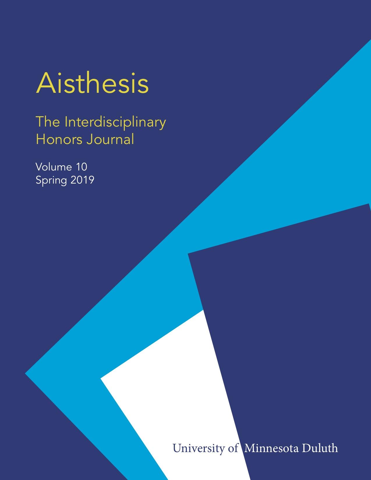 View Vol. 10 No. 1 (2019): Aisthesis