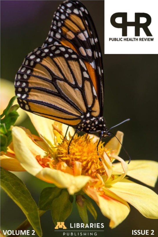 cover photo of monarch butterfly for volume 2 issue 2 of PHR