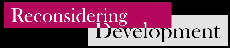 RD: Reconsidering Development